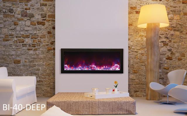 amantii bi 40 slim electric fireplace - Modern Electric Fireplace