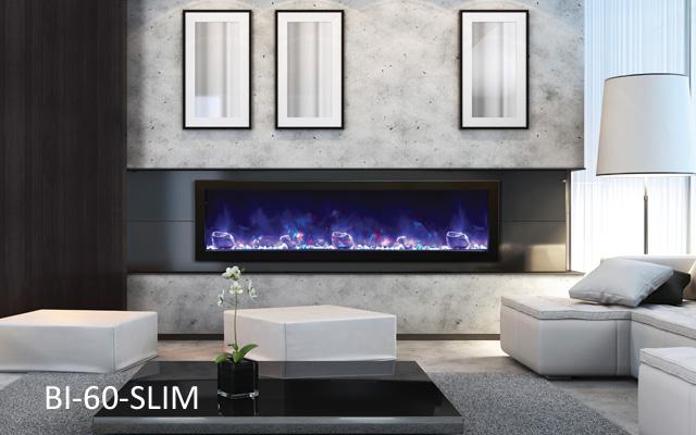 AMANTII Bi 60 Slim Electric Indoor/Outdoor Fireplace
