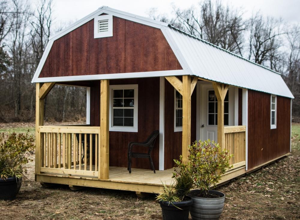 PREMIER BUILDINGS Premier Lofted Barn Cabin | Outdoor Living | Great