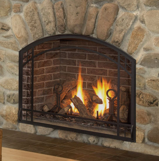 Arched Glass Fireplace Doors mendota fv41 arch | hearth products | great american fireplace in