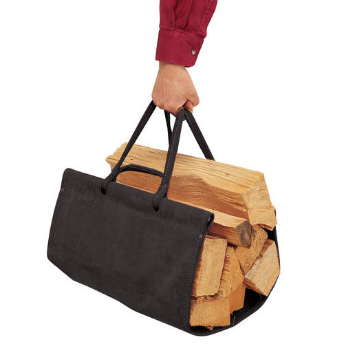~Suede Wood Carrier